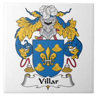 Villar Family Crest Tile