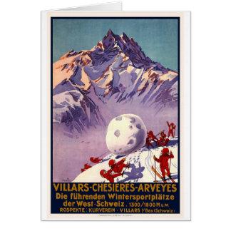 Villars Chesieres Arveyes Card