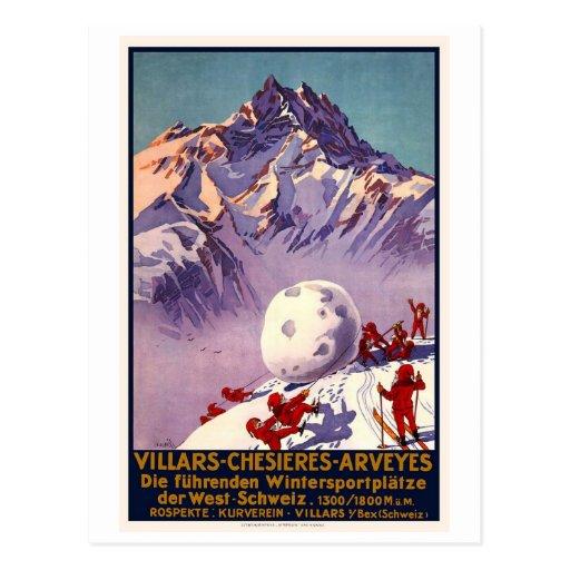 Villars Chesieres Arveyes Post Cards