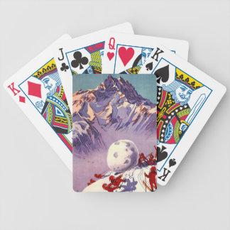 Villars Chesieres Switzerland Ski Vintage Travel Bicycle Playing Cards