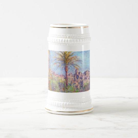 Villas at Bordighera 03 - Claude Monet Beer Stein