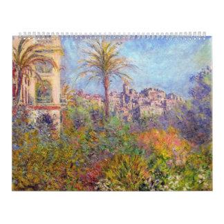 Villas at Bordighera 03 - Claude Monet Wall Calendars
