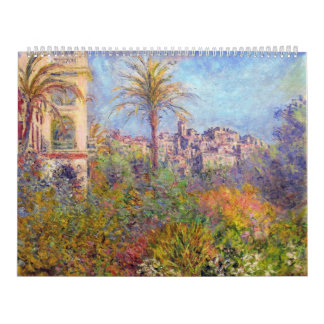 Villas at Bordighera 03 - Claude Monet Calendar