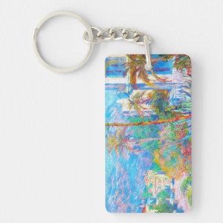 Villas at Bordighera  Claude Monet Double-Sided Rectangular Acrylic Keychain
