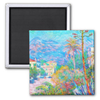 Villas at Bordighera  Claude Monet Magnet