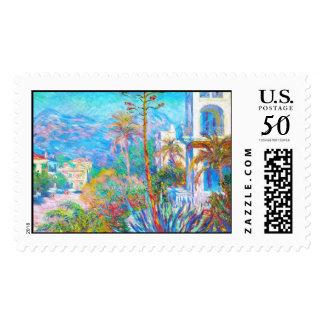 Villas at Bordighera  Claude Monet Postage