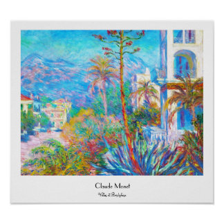 Villas at Bordighera  Claude Monet Poster