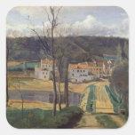 Ville-d'Avray, c.1820 Calcomanías Cuadradass Personalizadas
