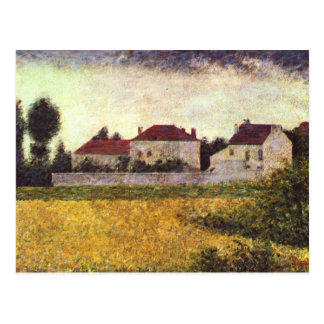 Ville d'Avray, The white houses by Georges Seurat Postcard