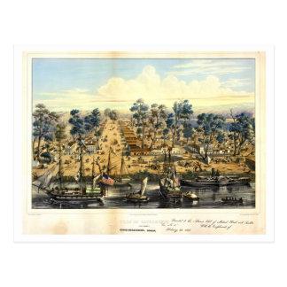 Ville de Sacramento, 1849. Postal