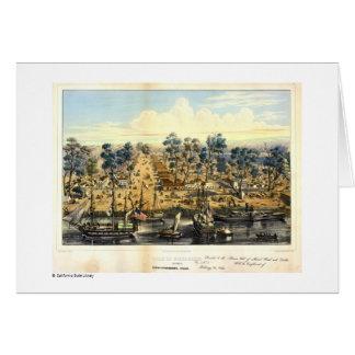 Ville de Sacramento, 1849. Tarjeta De Felicitación