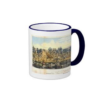 Ville de Sacramento, 1849. Taza A Dos Colores