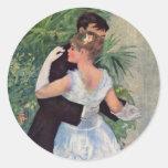 Ville del la del à de Pierre-Auguste Renoir - de Pegatina Redonda