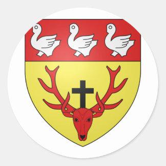 ville lux Munshausen Luxembourg Sticker