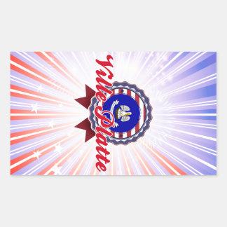 Ville Platte LA Rectangle Sticker