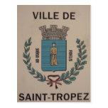 ville saint-tropez post card