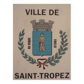 ville saint-tropez postcard