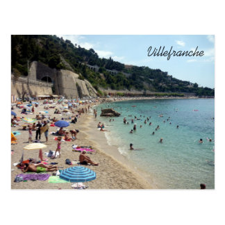 villefranche beachside postcard