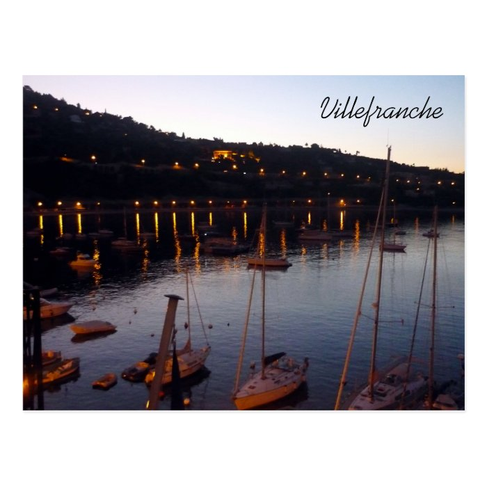 villefranche harbor morning postcard