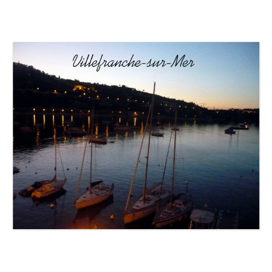 villefranche harbor postcard
