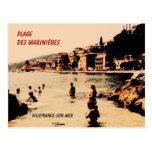 Villefranche-sur-Mer, beach, Postcard