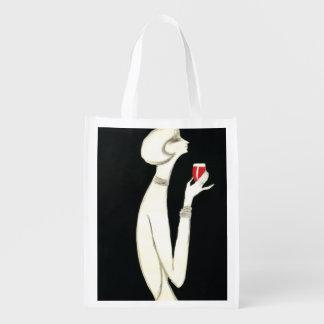 ~ Villemot del art déco del vintage para Campari 1 Bolsas Para La Compra