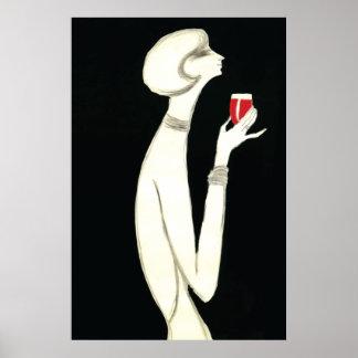 ~ Villemot del art déco del vintage para Campari 1 Impresiones
