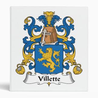 Villette Family Crest 3 Ring Binder