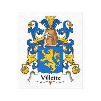 Villette Family Crest Stretched Canvas Prints