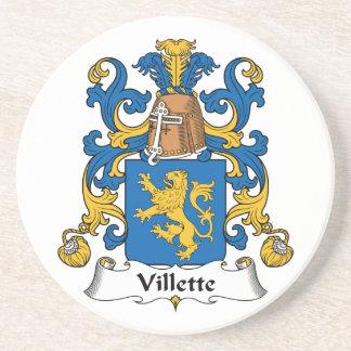 Villette Family Crest Beverage Coaster