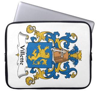 Villette Family Crest Computer Sleeves
