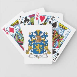 Villette Family Crest Bicycle Poker Cards