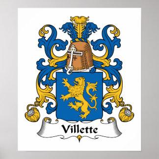 Villette Family Crest Posters