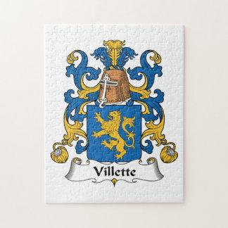 Villette Family Crest Puzzle