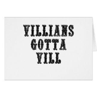 Villians consiguió a Vill Tarjeta De Felicitación