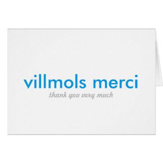 Villmols Merci | Thank You Very Much Card
