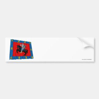 Vilnius County Waving Flag Bumper Sticker
