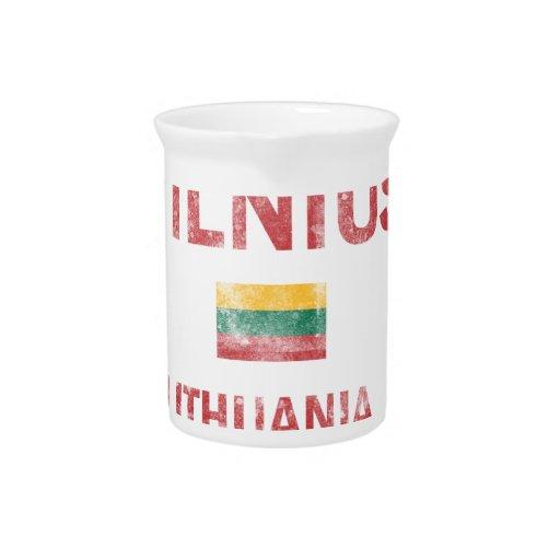 Vilnius Lithuania Designs Beverage Pitcher