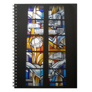 Vilnius Univ. Library Stained Glass - LITHUANIA - Spiral Notebook