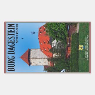 Vilseck - Burg Dagestein Pegatina Rectangular
