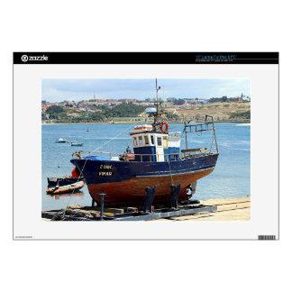 Vimar fishing boat, Porto, Portugal Laptop Decal