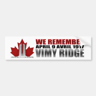 Vimy Ridge We Remember Bumper Sticker