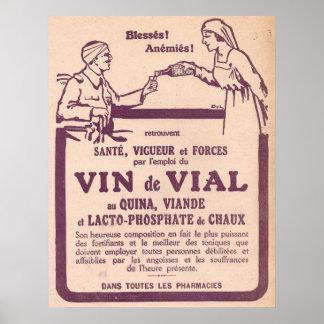 Vin de Vial vintage medicine ad Poster