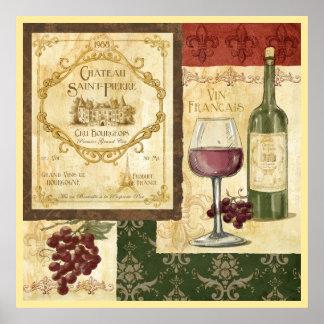 Vin Francais Póster