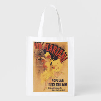 Vin Mariani Dancing Girl Pouring Wine Grocery Bag