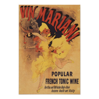 Vin Mariani Dancing Girl Pouring Wine Poster