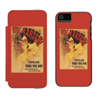 Vin Mariani Dancing Girl Pouring Wine Wallet Case For iPhone SE/5/5s
