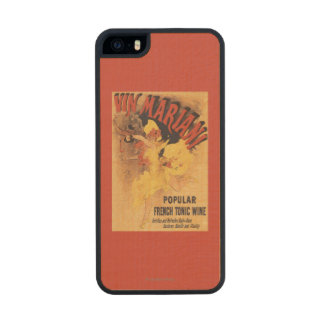 Vin Mariani Dancing Girl Pouring Wine Wood Phone Case For iPhone SE/5/5s
