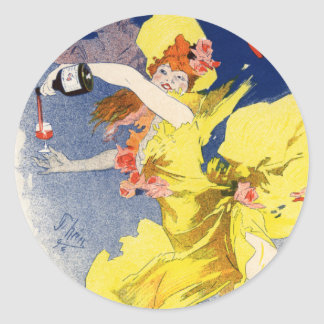Vin Mariani, Jules Chéret Stickers