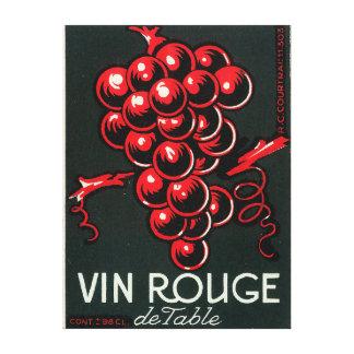 Vin Rouge De Table Wine LabelEurope Canvas Print